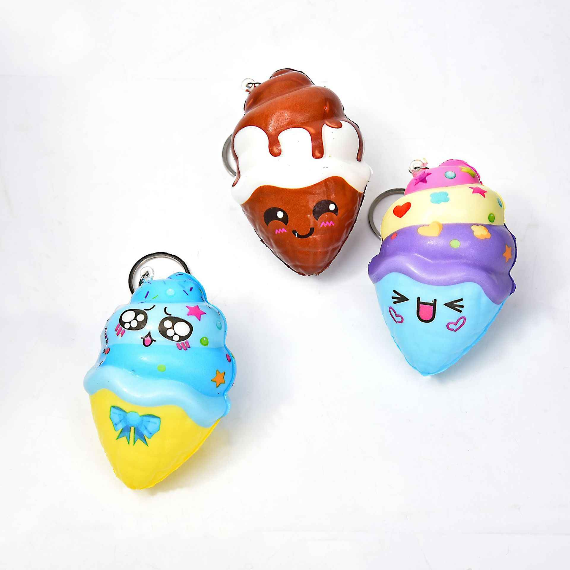 Антистресс мягкие медленно поднимающиеся забавные гаджеты для детей, облегчение стресса, милые сквиши, ПУ брелок, новые сжимаемые сквичи, новинка, игрушки