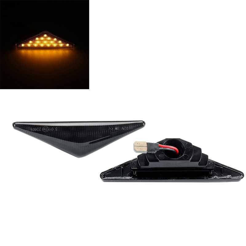 2 pçs carro led marcador lateral turn signal light indicador blinker para ford focus mk1 mondeo mk3