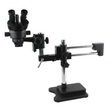 3.5X-90X Double Arm Boom Stand Trinocular Stereo Zoom Microscope For Mobile Phone Chip CPU Watch Repair Jewelry Identification - DISCOUNT ITEM  18% OFF All Category