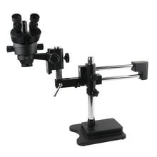 3.5X 90X Çift Kol Bom Standı Trinoküler Stereo yakınlaştırmalı mikroskop Cep Telefonu Çip CPU İzle Onarım Takı Kimlik