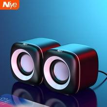 Haut-parleurs d'ordinateur filaires USB haut-parleur de boîte de son de basse profonde pour PC portable caisson de basses puissant haut-parleurs multimédia pas barre de son