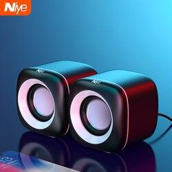 Alto-falantes de computador com fio usb caixa de som graves profundos alto-falante para computador portátil poderoso subwoofer multimídia não soundbar