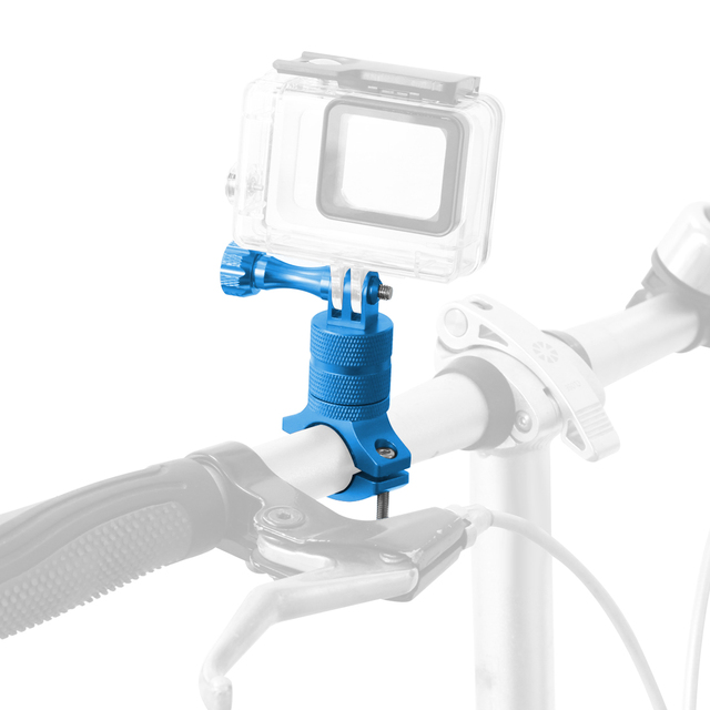 For Go Pro Bicycle Mount Rotatable Bike Handlebar Mount Holder Adapter Bracket for Gopro Hero 5 SJ6000 Accessories