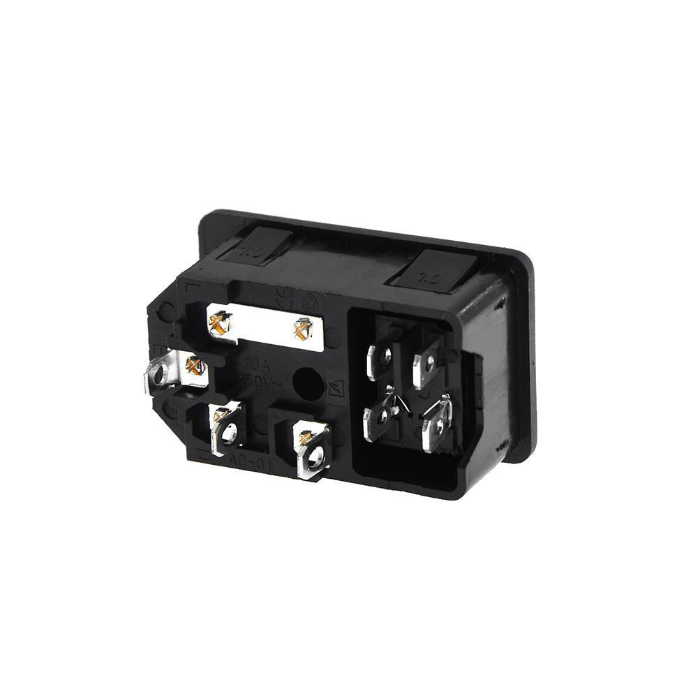 220V/110V 15A Power Supply Switch Male Socket with Fuse as 3D Printer Accessories 12