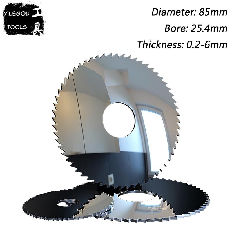 85mm Alloy Tungsten Steel Milling Cutter, 85 X 25.4mm Carbide Circular Saw Blades Cutting Aluminum, Copper Metal, PVC. (0.2-6mm)