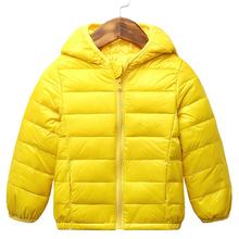 Dziecięce jesienne zimowe puchówki dla dziewczynek cukierki kolor ciepłe płaszcze z kapturem dla chłopców odzież wierzchnia dla dzieci wodoodporne ubrania tanie tanio Moda COTTON CN (pochodzenie) Stałe REGULAR Kurtki płaszcze Pełna Pasuje prawda na wymiar weź swój normalny rozmiar