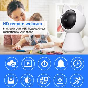 Wireless WiFi IP Camera Cute Cat Style Motion Detection IR-CUT Phone Control Home Security Baby Monitor Camcorder 2019 New