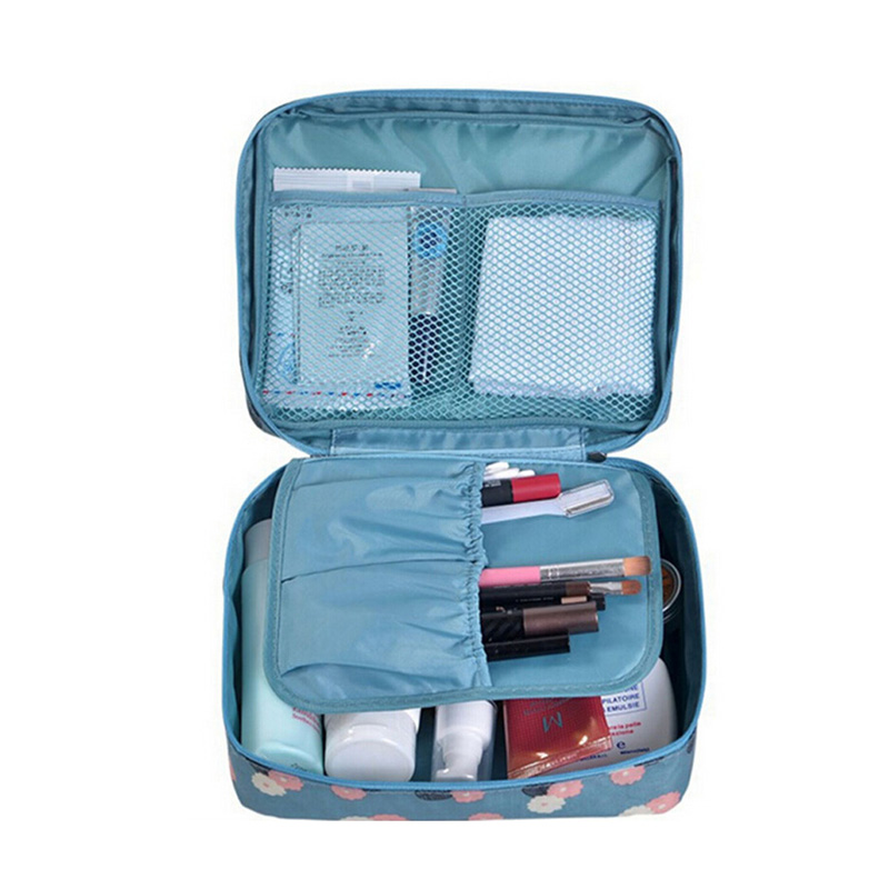 Travel Cosmetic Bag Organizer Nylon Make Up Bag Beauty Case Women Toiletry Bag Multifunction Waterproof Makeup Bag Wash Pouch
