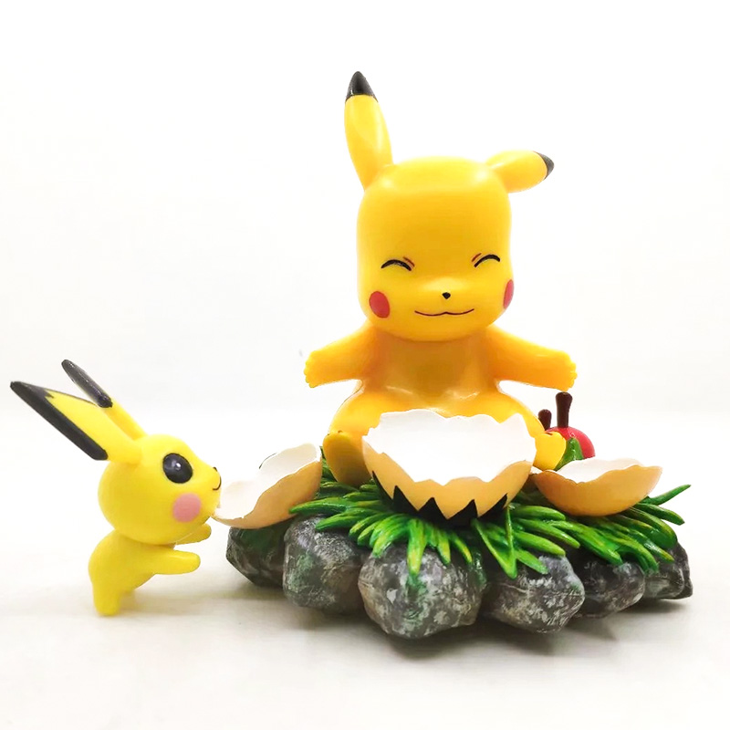 TAKARA TOMY 11cm Fantasy Series EGG Pikachu Pokemon Action Figure Toys Cute Model Decoration Kids Christmas Gifts image