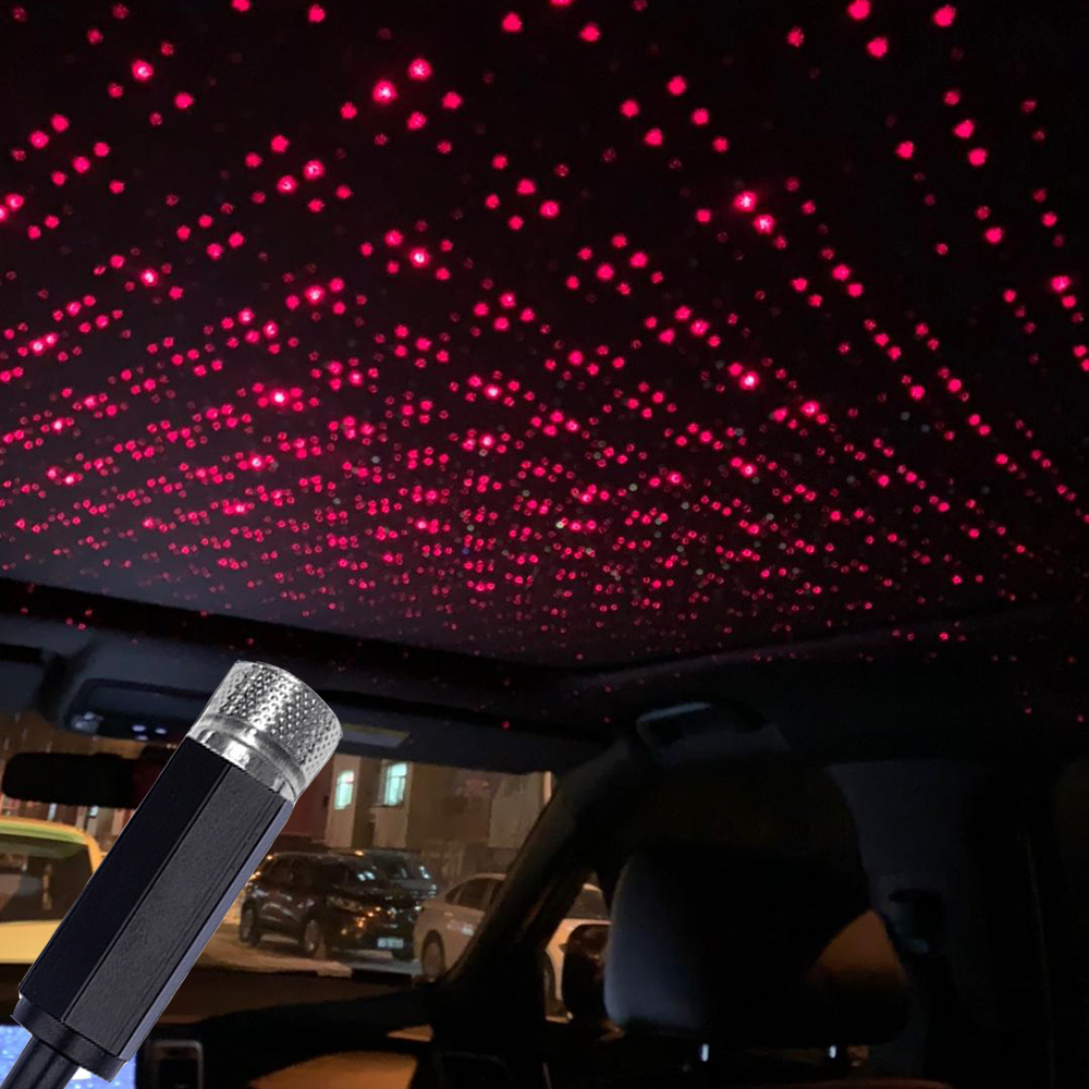 Car USB LED Car Atmosphere Ambient Star Light DJ RGB Colorful Music Sound Lamp Christmas Interior Decorative Light IQ