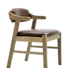 Silla de comedor Simple moderna silla de madera sólida sillón de tela nórdica Silla de escritorio antigua de café