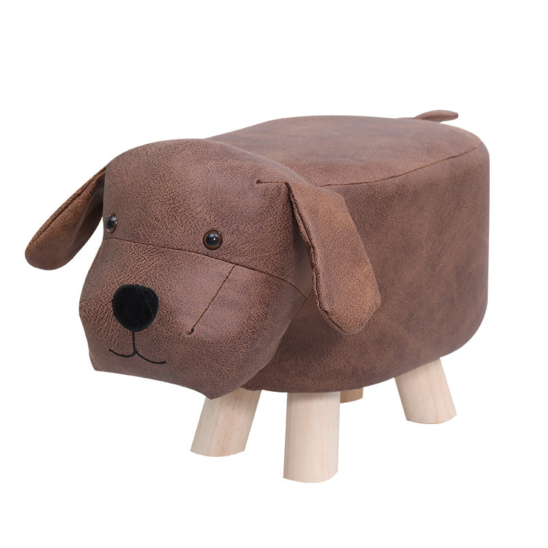 Animal Shaped Storage Ottoman Padded Cushion Ride-on Footrest Stool Rest Seat US/UK/RU/AU/CN