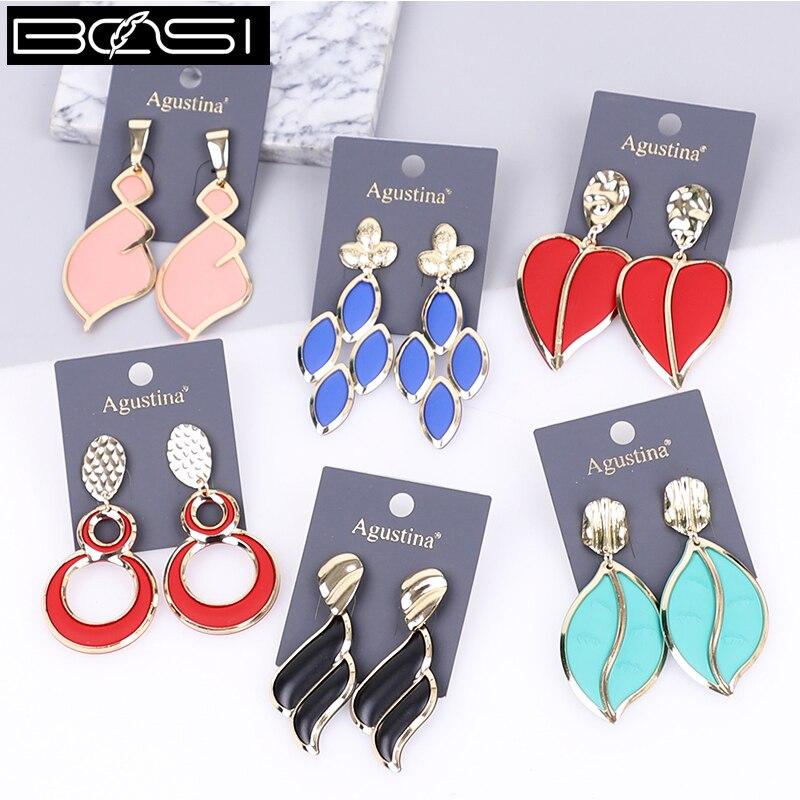 BOSI 2021 orecchini pendenti gioielli di moda orecchini pendenti per donna orecchini lunghi di lusso rosso nero orecchini semplici orecchini carino boho
