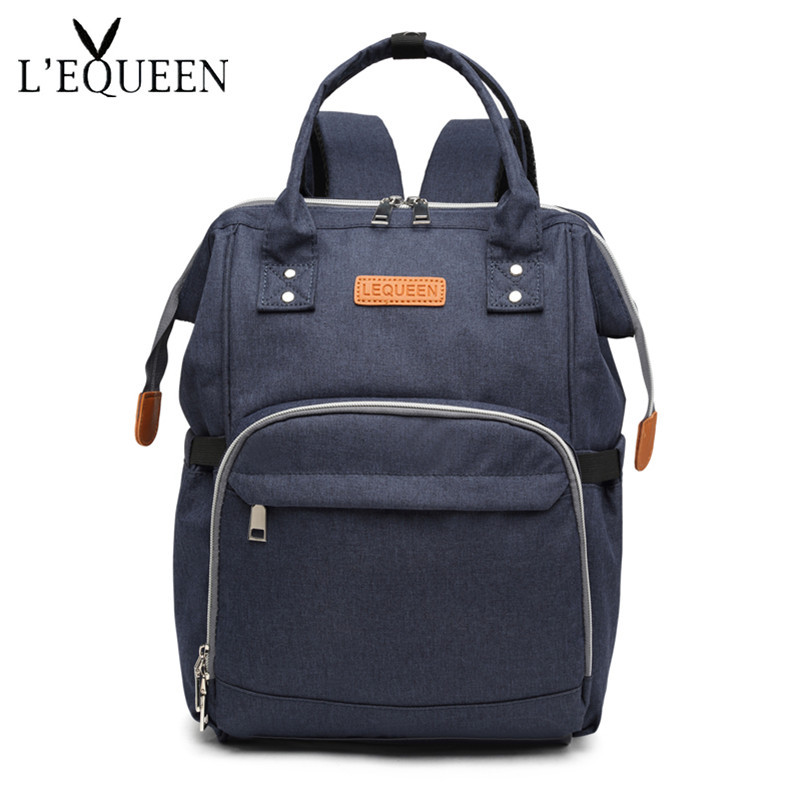 LEQUEEN Diaper Baby Bag Fashion Mummy Maternity Nappy Bag Large Capacity Travel Backpack Nursing Bags for Baby Care Mother's Bag
