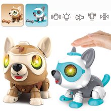 Robot Dog Electronic Animal Pets DIY Voice touch Interactive Remote Control Toys Music Song Toy for Kids RC Toys Birthday Gift