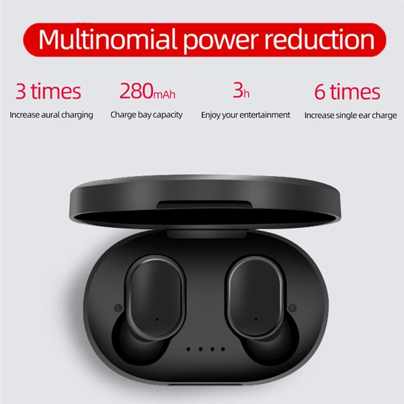 A6S TWS Близнецы V5.0 Bluetooth наушники спортивные стерео наушники гарнитура с микрофоном Авто зарядным устройством для Xiaomi Huawei