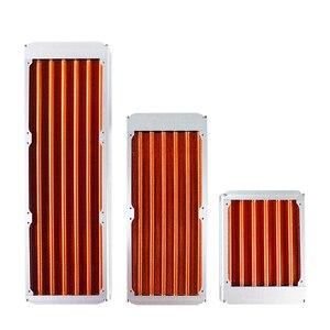 Image 2 - 120/240/360mm watercooling todo o radiador de cobre para o mestre 30mm do refrigerador do dissipador de calor do computador do fã 12cm espessura prata/preto, vermelho v3