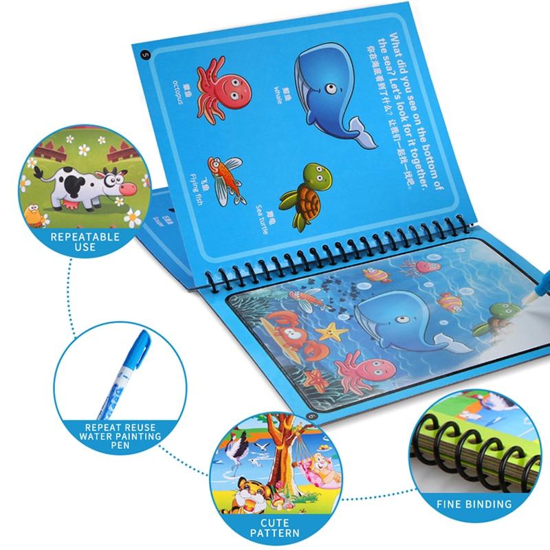 8 vrsta Montessori igračaka višekratna bojanka čarobna knjiga za - Obrazovanje i osposobljavanje - Foto 3