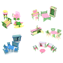 Моделирование Деревянные маленькие мебель игрушки куклы для детской комнаты, игрушка кукольный домик с мебелью деревянная мебель для кукол