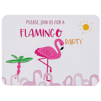 8 pieces set flamingo theme invitation card greeting card birthday party theme party pink invitation cartoon animal blessing image