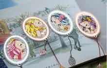 Ensemble de points de croix DMC, marque-page en métal simple, cadeau créatif à la main, charmante princesse sirène