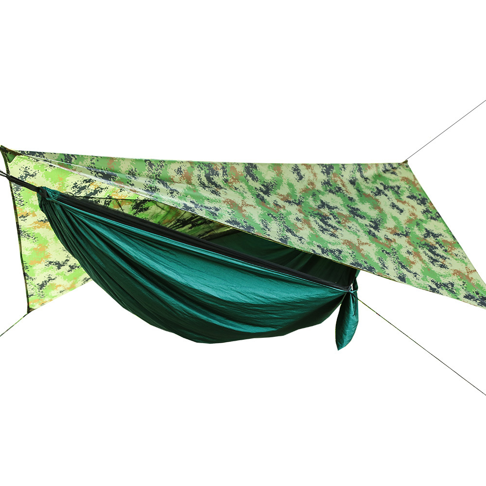 Camping Hammock Tent Mosquito-Net Outdoor Waterproof Parachute Cloth with Camouflage