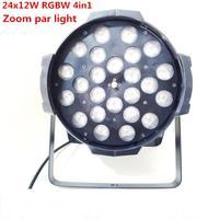 18x12w Led zoom par light dmx Controller dj par 64 rgbwa 24x12W 4in1 led par light for dj party disco