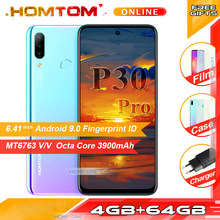 HOMTOM P30 Pro 4GB RAM 64GB ROM Octa Core Mobile Phone 6.41 inch Full Display 13MP Rear Camera Smartphone Fingerprint(China)