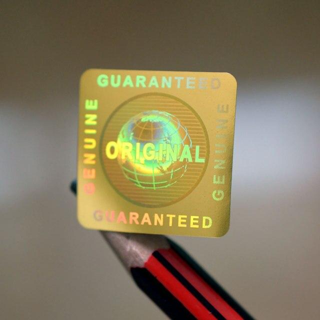 ボイドゴールド本物保証とオリジナルのグローバルホログラムステッカー 20 × 20 ミリメートルスクエア