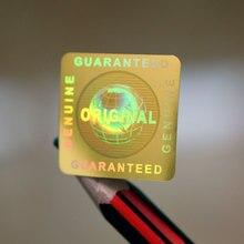 Ouro vazio genuíno garantido e original holograma global etiqueta em 20x20mm no quadrado