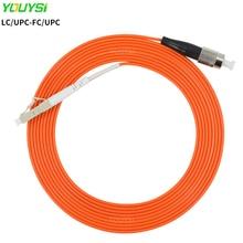 YOUYSI LC/UPC-FC/UPC Fiber Patch Cable LC-FC Multimode Fiber Jumper MM Simplex OM1/OM2 1m 2m 3m 5m 10m