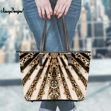 Noisydesigns torebki damskie złote Vintage Leopard luksusowe europejskie ShoppingTote torba damska moda damska torba na ramię kobieca cheap Na co dzień torebka Torby na ramię Na ramię i torby crossbody zipper Miękkie NONE handbag Poliester Wszechstronny WOMEN