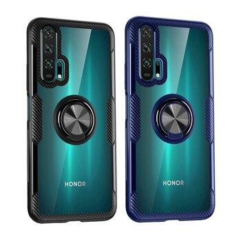 Étui à bagues Transparent pour Huawei Honor 20 Pro Nova 5T P30 P20 Mate 20 10 Lite 8S téléphone support antichoc housse Honor 20 Pro