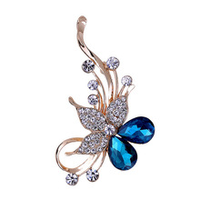 Five petals flower women brooches fashion crystal flower brooch suit shawl sweater brooch brooches shawl buckle
