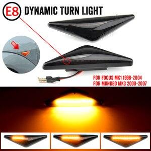 2 шт., боковой ретранслятор, светильник, светодиодный, боковой маркер, Динамический указатель поворота, светильник, мигалка для Ford, для Focus Mk1, для Mondeo Mk3