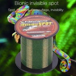 Fishing Line 100/150/200/300/500M Super Strong Nylon Fishing Wire Flourocarbon Coated Spotted Wear-resistant Invisible Pull Sea