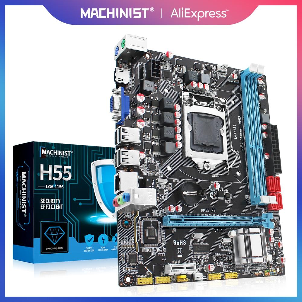 H55 материнская плата LGA1156 DDR3 Sup порты Xeon Core 2/3 i3/i5/i7 CPU Материнские платы PCI-Express USB порты настольная материнская плата ZX-HM55-P3