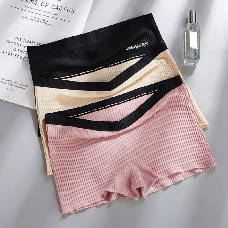 Boxer Trousers High Elastic Solid Color Seamless Safe Corner Pants Women Anti-lighting Safety Pants Under Shorts Leggin Shorts