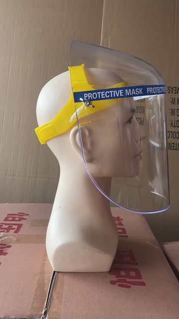 PVC Plexiglass Anti-Saliva Dustproof Faces Shields Screen Spare Visors Face Mask Respiratory Tract Protection 1