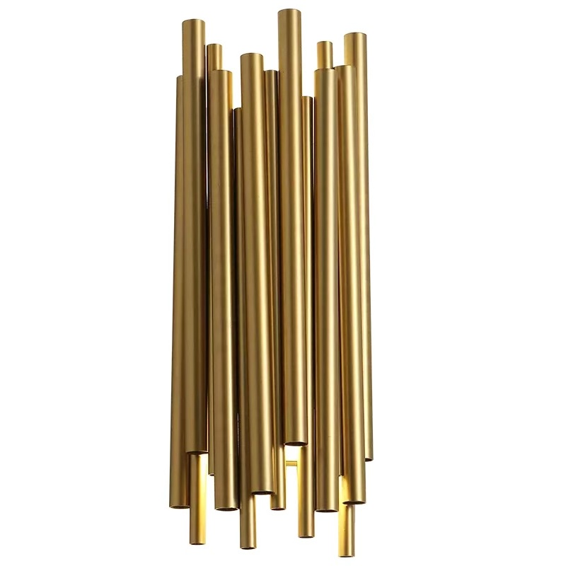 Nordic Modern Gold LED Wall Lamps Creative Aisle Wall Light Living Room Bedroom Decoration Sconce Lights Fixtures 2 G9 Bulb