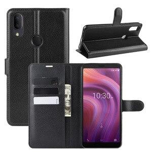 For Alcatel 3V 2019 Case Soft Silicone insert Flip Wallet Leather Case For Alcatel 3V 2019 Cover Kickstand Phone Bag