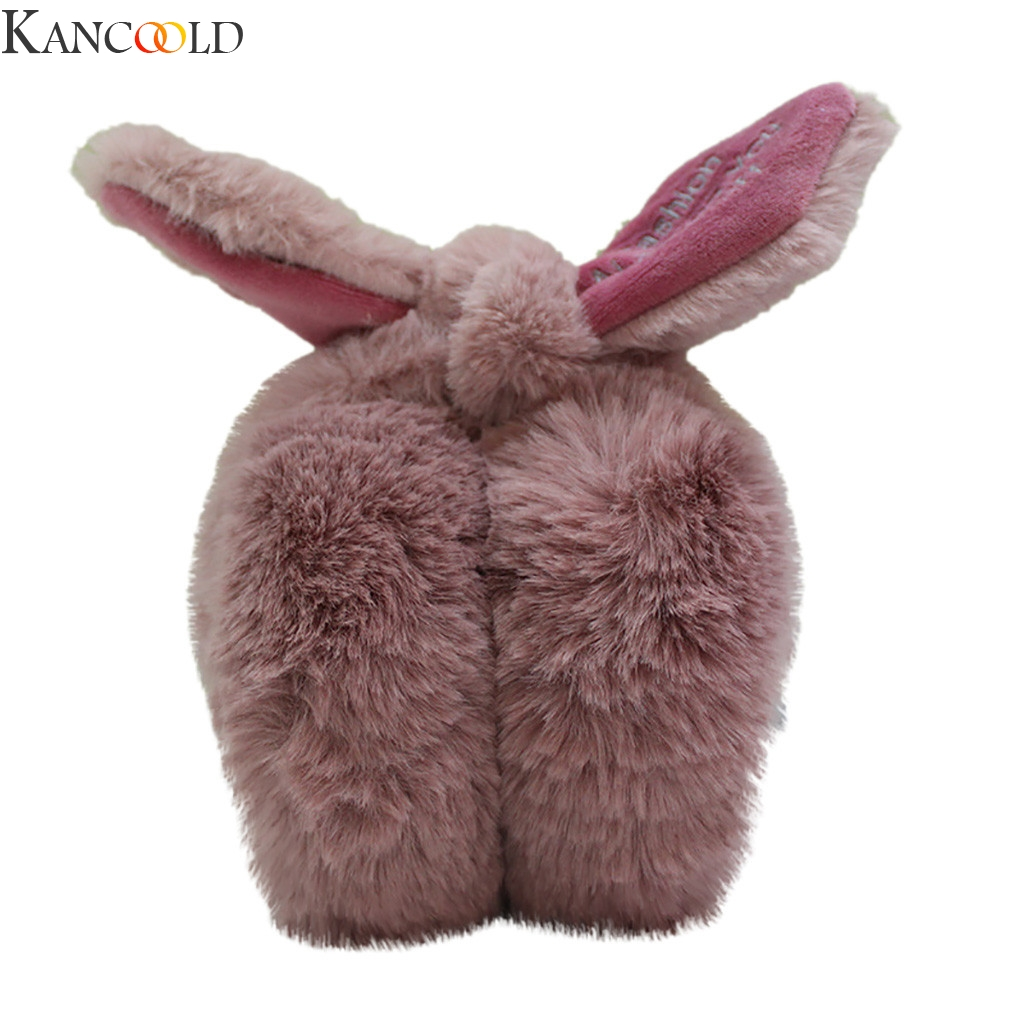 KANCOOLD Comfortable Cute Plush Butterfly Knotting Ears Winter Warm Adjustable Earmuffs Outdoor Protect Ears Winter Accessories
