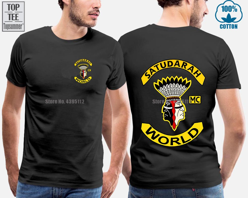 Satudarah <font><b>Mc</b></font> World Motorcycle New <font><b>T</b></font>-<font><b>Shirt</b></font> Unisex image