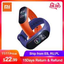 Xiaomi Miband Smart-Bracelet Bluetooth Spanish/russian 4 Amoled-Screen Waterproof 50m