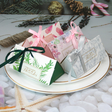 10pcs Triangle Paper Bag White Black Candy Bag Wedding Favors Gift Box Package Birthday Party Decoration Bags With Ribbon 100 pcs paper gift bags with handles for wedding birthday party favors small bag present cosmetics jewelry kraft paper bag candy