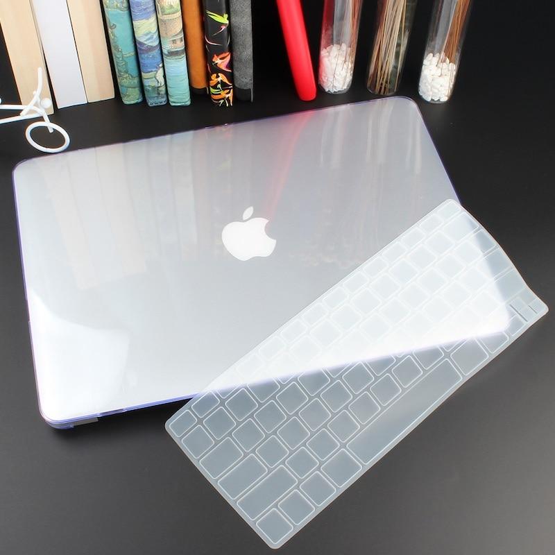 Чехол для ноутбука 4 в 1 для MacBook Air 11, 13 дюймов и Pro retina 13,3, 15,,,, кристально Матовый Жесткий чехол для клавиатуры - Цвет: Crystal Clear