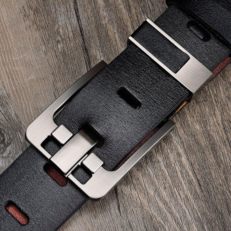 [LFMB]Men's belt leather belt men  pin buckle cow genuine leather belts for men 130cm high quality mens belt cinturones hombre 1