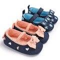 Детская обувь; сезон весна-осень; обувь принцессы для маленьких девочек 0-1 лет; нескользящая обувь с мягкой подошвой на липучке для малышей