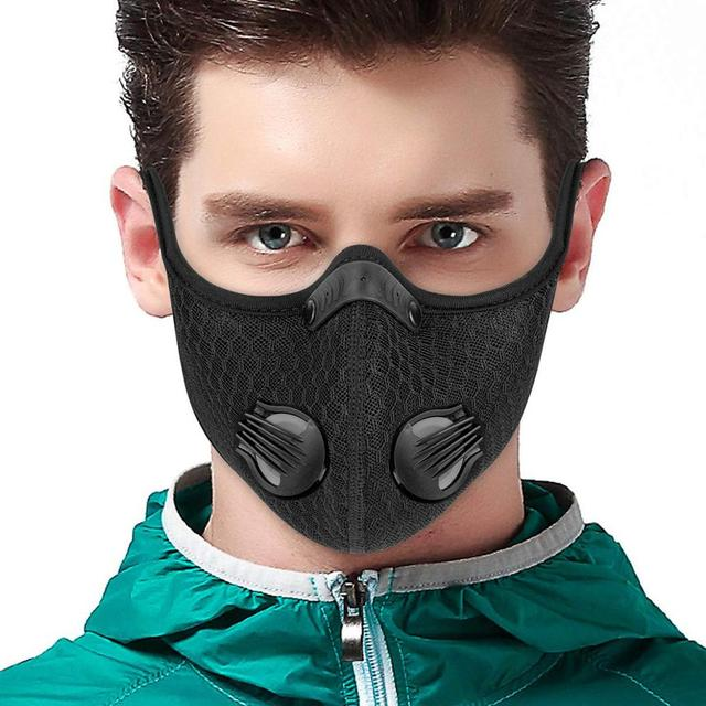 Batfox Cycling Mask Activated Carbon With Fliter Half Face Cover Dust-Proof Anti-Pollution Outdoor Sport Training Mask Bicycle 1