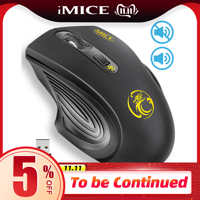 USB Wireless Mouse 2000DPI Adjustable USB 2.0 Receiver Optical Computer Mouse 2.4GHz Ergonomic Mice For Laptop PC Silent Mouse